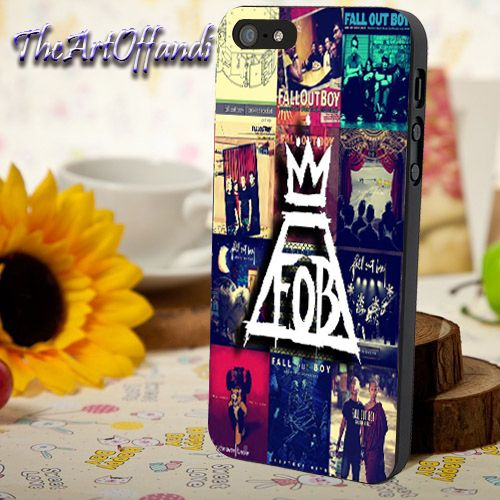 Fall Out Boy Collage For iPhone 5/5c/5s Black Rubber Case
