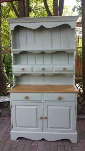Shabby Chic Solid Pine Welsh Dresser Painted In Farrow & Ball | eBay #shabbychicdressersdecor