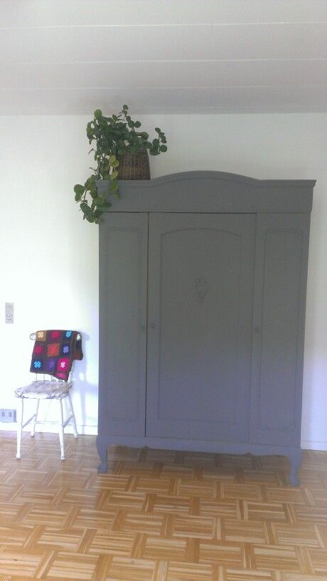 Dresser painted in french grey chalk paint