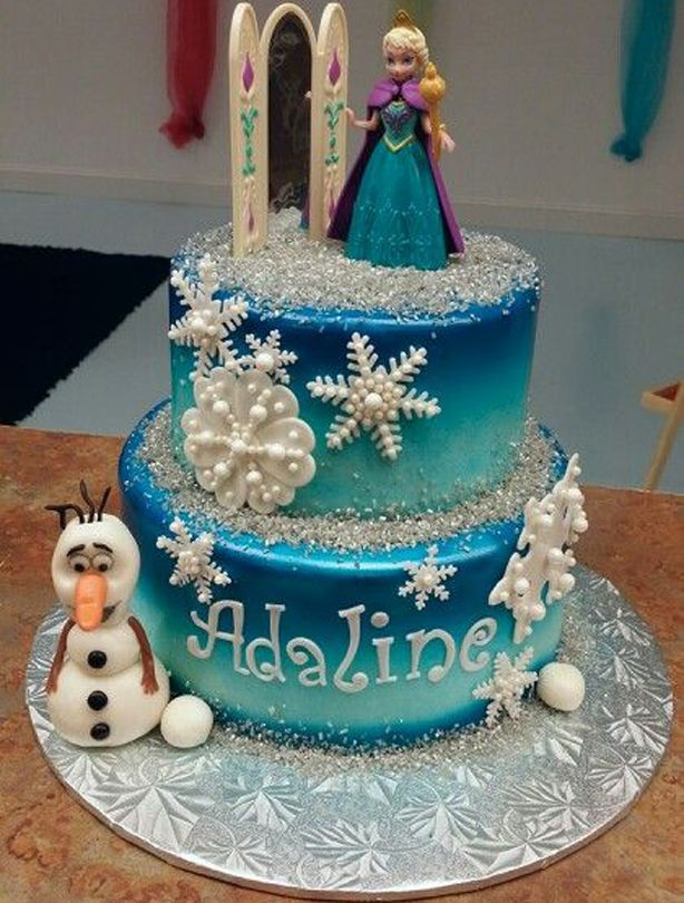 454 best Cakes Frozen images on Pinterest Anniversary cakes