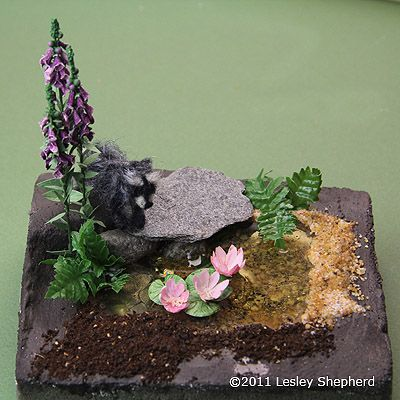 How to Use EZ Water or Casting Resin to Make Miniature Water Features: Finishing a Miniature Landscape Around a Small Water Feature