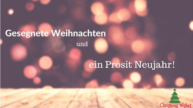 Gesegnete Weihnachten und ein Prosit Neujahr!