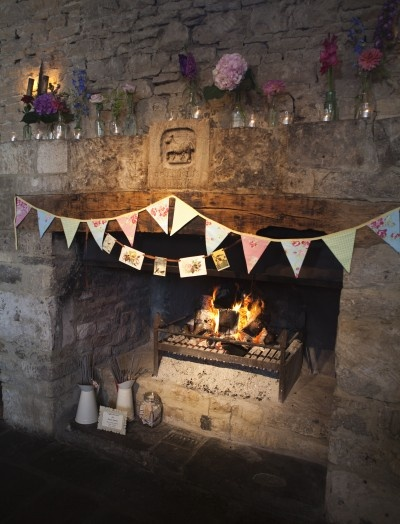 cripps barn fireplace decoration