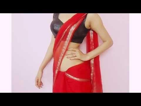 ▶ Jawani Deewani Saree Wearing Style-Sari Wraping Video Tutorial/How To Drape Saari - YouTube