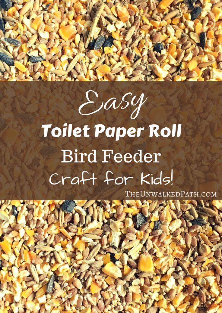 Easy Toilet Paper Roll Bird Feeder Craft for Kids! Super Fun