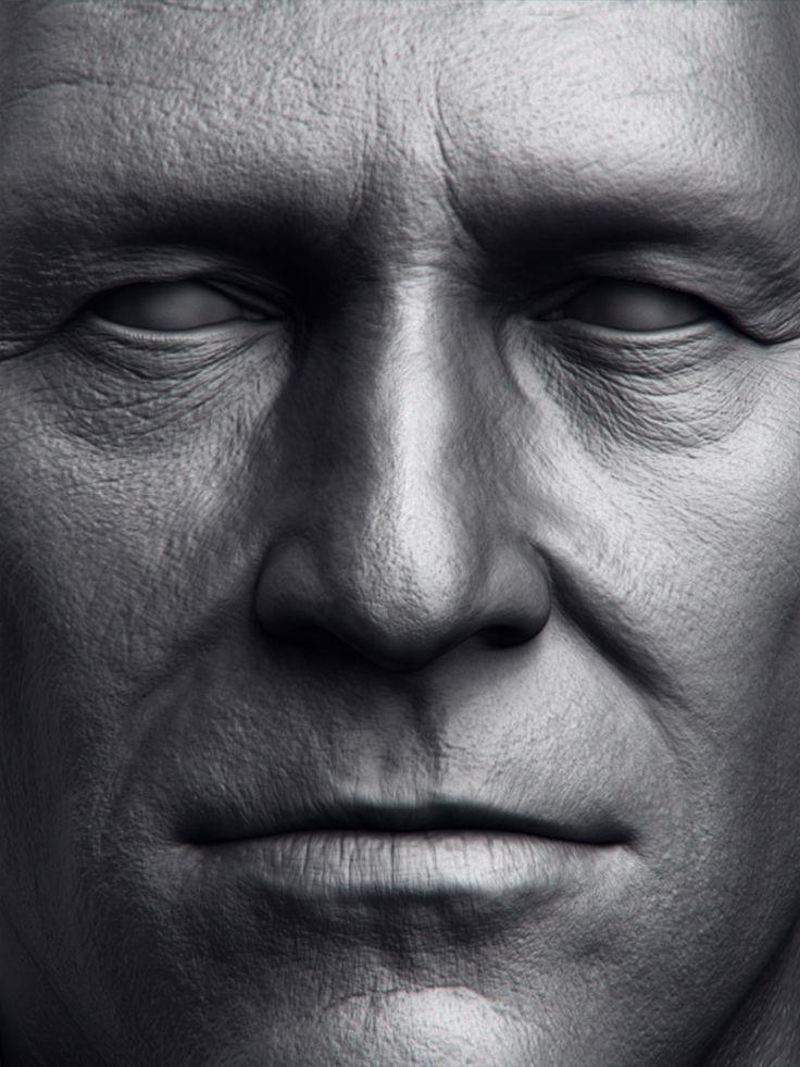 Jeff Bridges by Amin Yavari Moghadam | Portrait | 3D | CGSociety