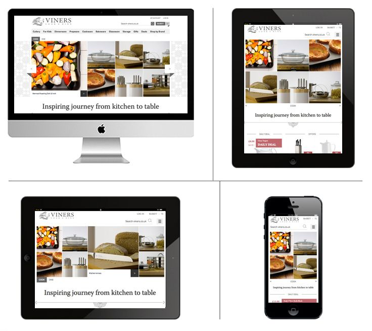 Viners Oneida Ltd – impressive heritage of Oneida Ltd. brands – responsive e-commerce website http://www.viners.co.uk/