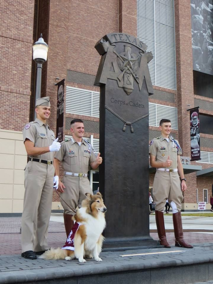 The new Corps Statue in front of Kyle Field. Whoop!