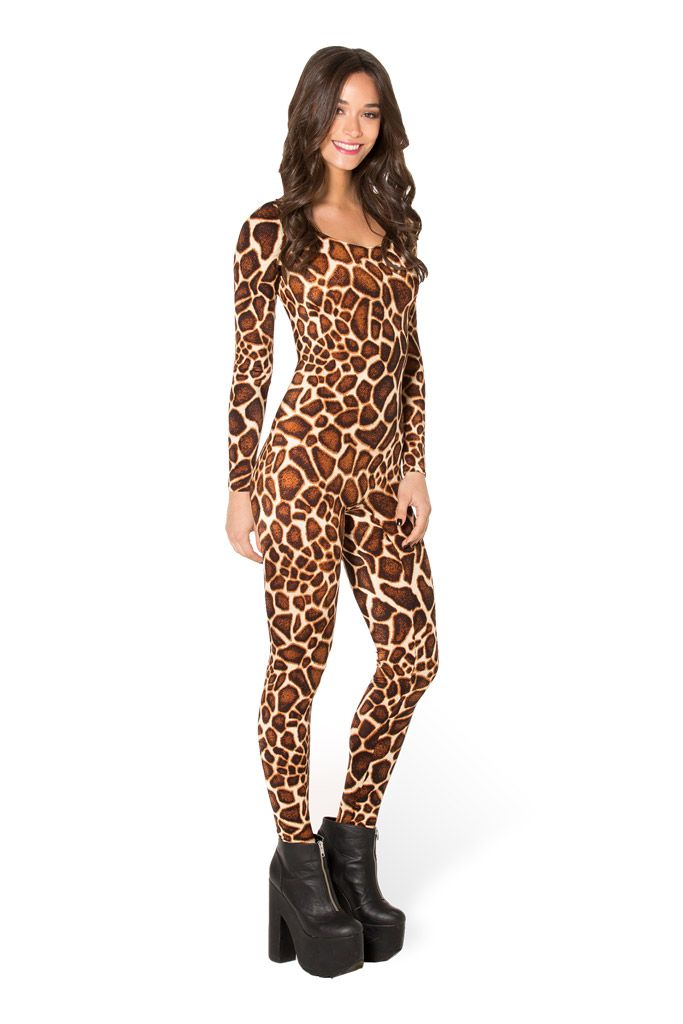 Baby Giraffe Long Sleeve Catsuit (WW $99AUD / US $94USD) by Black Milk Clothing