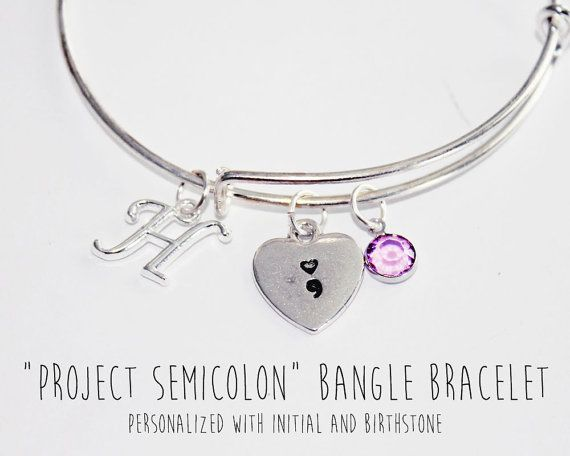 Semicolon Bracelet Semicolon Gifts Semicolon by JewelryImpressions
