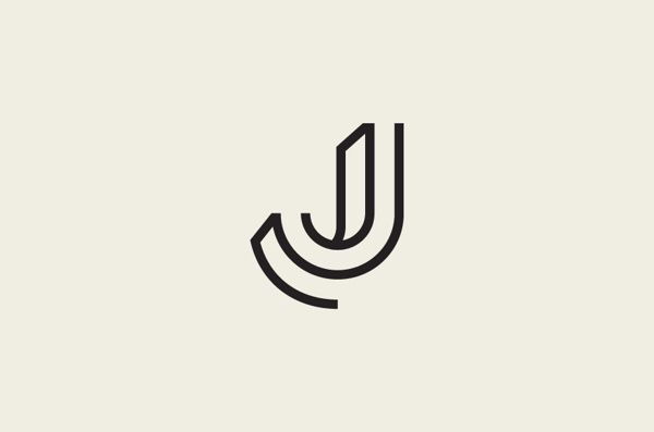 J Logo jj monogram letter logo design, awesome j minimal lineart logo design for branding brands black and white typography logo design inspiration ideas