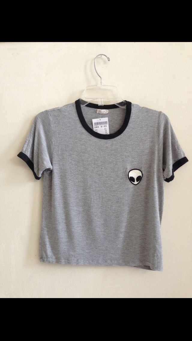 Brandy Melville 'alien' crop top