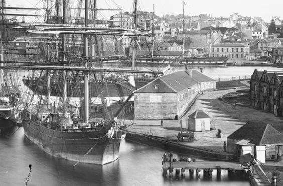 Circular Quay,in Sydney in 1873.