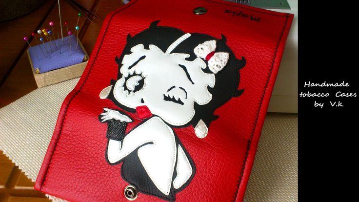 Betty Boop!!!! Tobacco Case Synthetic Leather https://www.facebook.com/Vassoartistiko