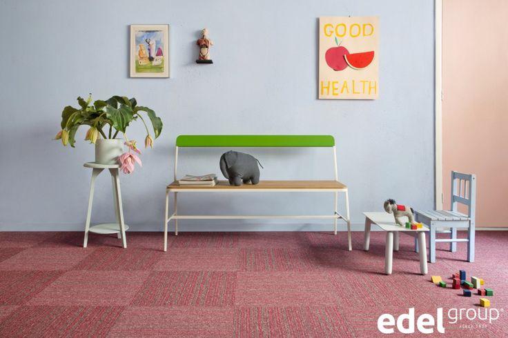 tapijttegel | carpet tile Lima Stripe, fitted in checkerboard