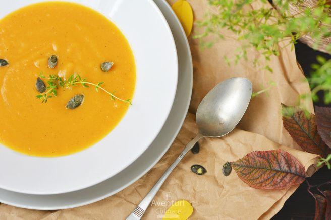 Supa crema dovleac - aventuri tomnatice