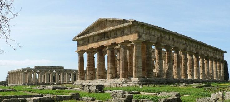 #Archaeological Site of #Paestum: The ruins of Paestum are notable for their three ancient #Greek #temples which are in a very good state of preservation.