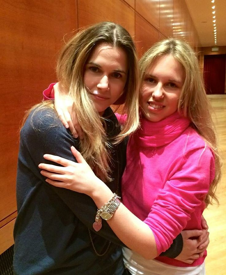 Actress Anna Favella and Giorgia Marin on April 16, 2014.