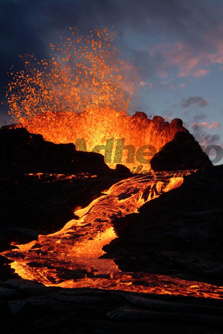 Fototapeten Vulkan
