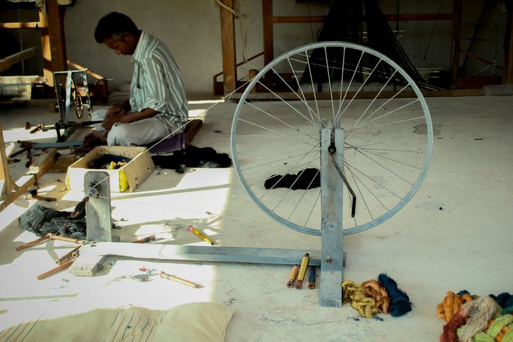The weaving wheel #India #crafts #weaving