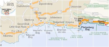 Storms River Search by Map
