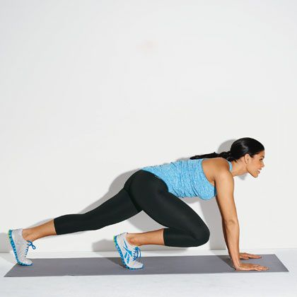 Jordin Sparks' Hot-Body Workout: Mountain climbers: Body Workouts, Celebrity Workout, Trouble Zone, Jordin Sparks, Shape Magazine, Mountain Climbers, Weight Loss, Exercise, Health