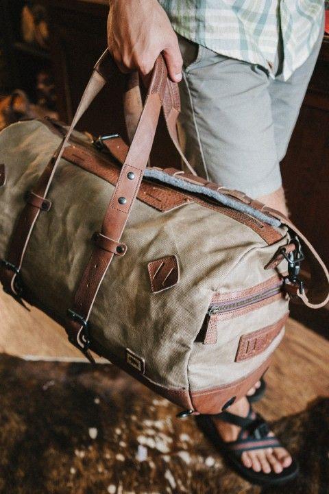 Buffalo Jackson, Dakota Vintage Travel Duffle Bag - Field Khaki $329.95