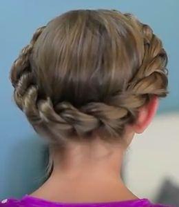 Elegant Flower Girl Hairstyles - The Crown Twist Braid Hairstyle Tutorial