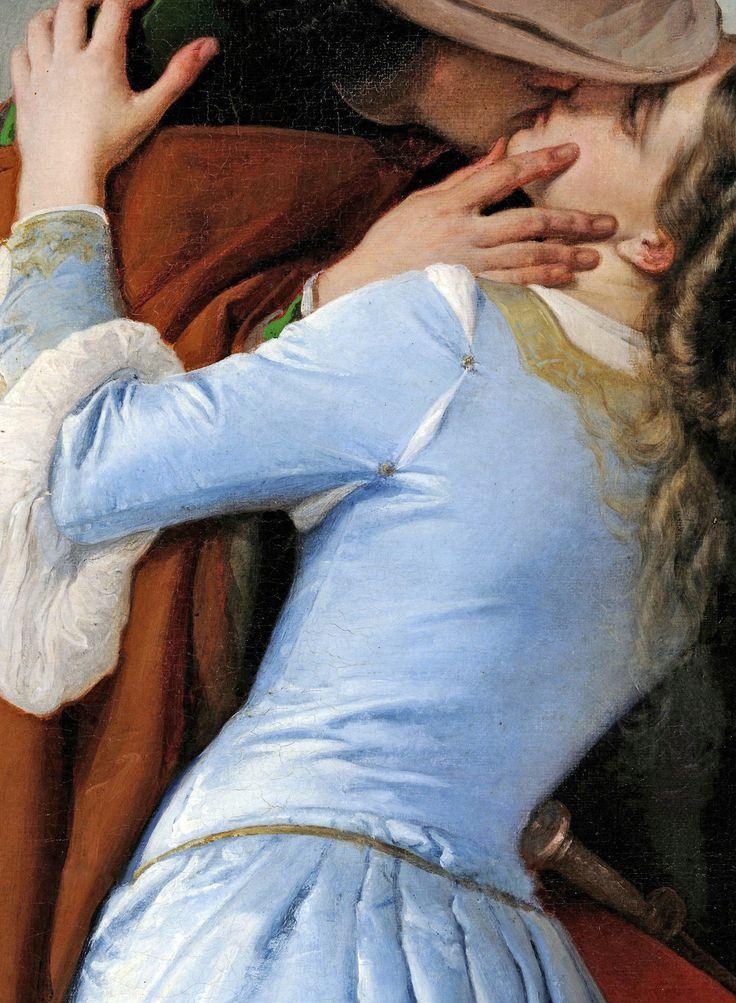 """Francesco Hayez: """"The Kiss"""" 1859 (Detail)"""