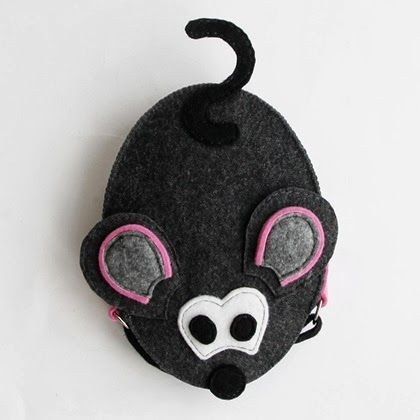 Original mouse-bag for a little girl