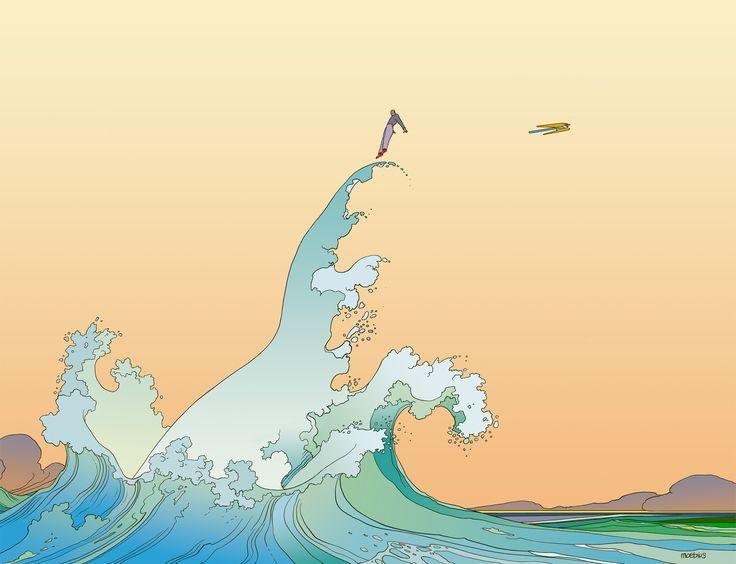 Jean Giraud a toujours assumé une double identité : il signait Girses oeuvres plus réalistes et Moebiusses réalisations touchant davantage à la science-fiction. Ce second pseudonyme a remporté la bataille de la postérité, renfermant l'univers le plus profond et le plus fascinant de ce dessinateur mythique. C'est celui qui nous intéresse dans cet article. Avec Moebius, Jean Giraud fait une référence au ruban du savant Möbius, symbole de l'infini, qui illustre parfaitement ses réalisations…