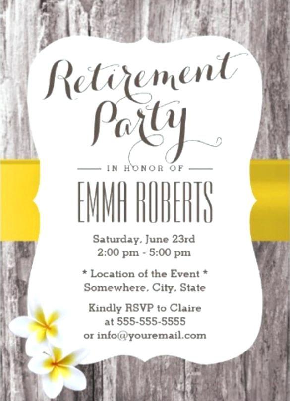 Retirement Invitation Template Classy Wood Background Retirement