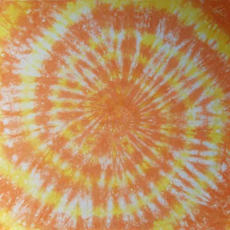 Tie Dye Flour Sack Towels, Orange Tea Towels, Set of 2 Towels, Boho Towels, Spiral Design, Kitchen Decor by CakewalkLinens on Etsy