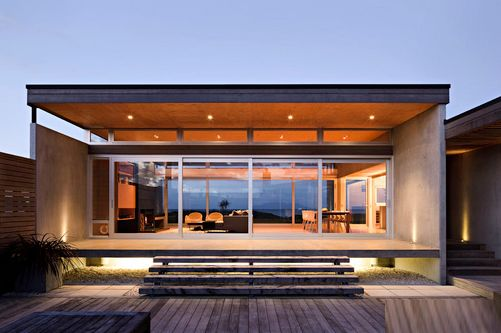 Beach House by CCCA | #OrganicSpaMagazine: Clarks Carnachan, Based Architecture, Omaha Beaches, Carnachan Architects, Simple Beaches House Exterior, Ships Container Home, Architecture Firm, Crosson Clarks, New Zealand