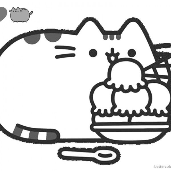 Pusheen Coloring Pages Cute Dinosaur Hat Free Printable Coloring Pages In 2020 Pusheen Coloring Pages Cat Coloring Page Cartoon Coloring Pages