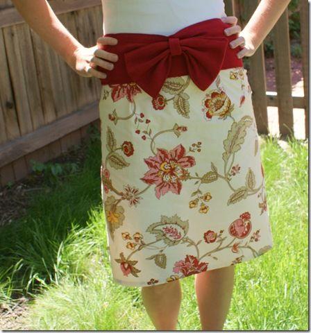 napkin skirt tutorial... too cute! and already hemmed!