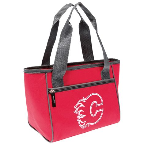 Insulated cooler bag features zippered top, zippered storage pocket on front and dual carrying straps. Heat sealed, leak-proof liner. 600 Denier polyester and PEVA. 20 cm H x 35 cm W (at top) x 14 cm D. Wipe with damp cloth. NHL and the NHL Shield are registered trademarks of the National Hockey League. All NHL logos and marks and NHL team logos and marks depicted herein are the property of the NHL and the respective teams and may not be reproduced without the prior written consent of NHL…