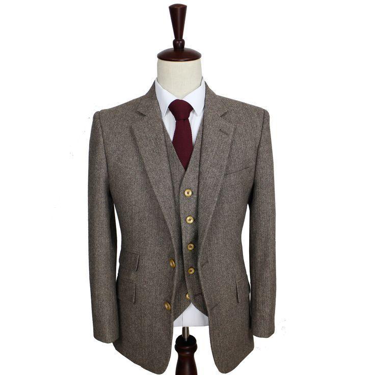 Op maat gemaakte herenkleding, op maat gemaakt tweed-pak, kamgaren wollen pakken en linnen zomersu …