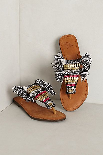 Cayucos Fringed Sandals #anthropologie