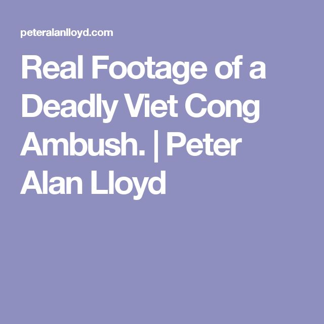 Real Footage of a Deadly Viet Cong Ambush. | Peter Alan Lloyd