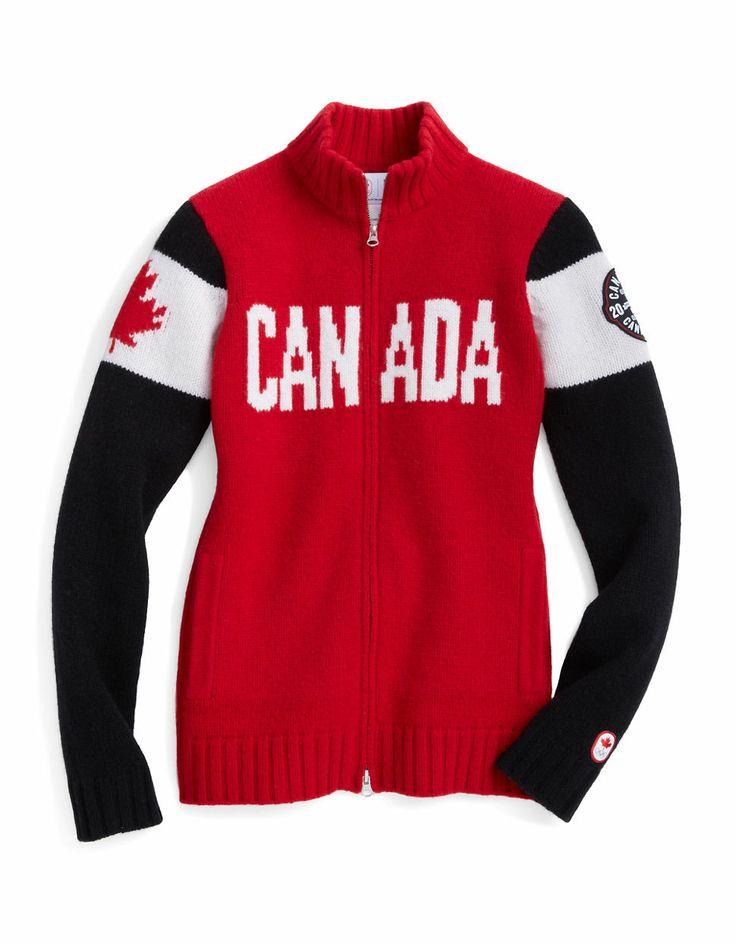 Sochi 2014 Lambswool Zip Canada Sweater   #HBCOlympics