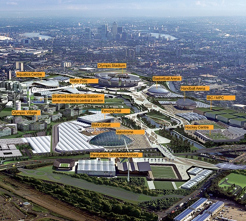 London 2012 Olympic Park Doesnt Look As Good Beijing But I Cant