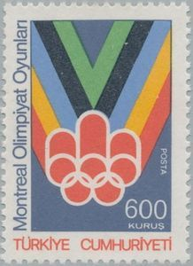 Stamp: Montreal (Turkey) (Olympic games Montreal 3v) Mi:TR 2400