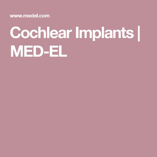 Cochlear Implants | MED-EL