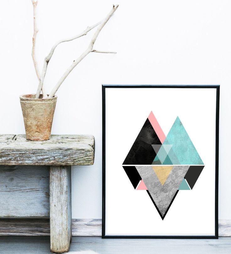 Geometric Wall Art, Printable Art, Mid Century Modern, Geometric Art, Wall Decor, Abstract Art Print, Scandinavian Art by exileprints on Etsy https://www.etsy.com/listing/242314832/geometric-wall-art-printable-art-mid