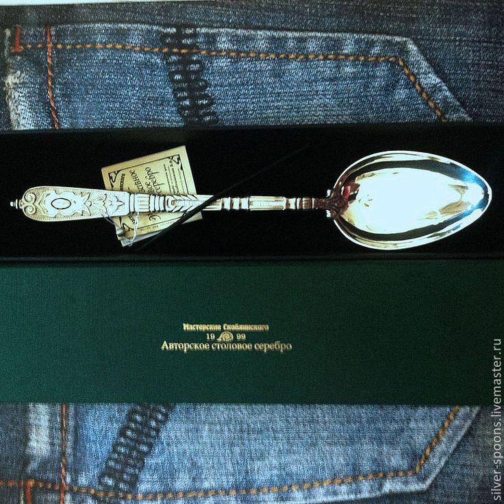 Подарочный футляр для одного столового прибора - Серебряные ложки Скоблинского - Ярмарка Мастеров