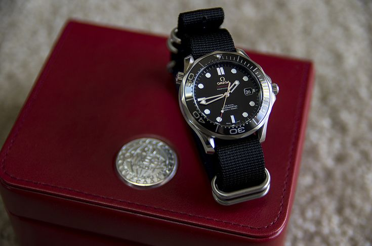 Omega Seamaster Professional Ceramic Chronometer On NATO Strap Circa 2012