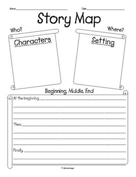 "DaisyDoggy presents ""Story Map: Beginning, Middle, End + Problem & Solution.""   Includes 2 graphic organizer story maps.  1) Used to identify the Beginning, Middle, and End of the story. 2) Used to identify the Problem and Solution of the story."