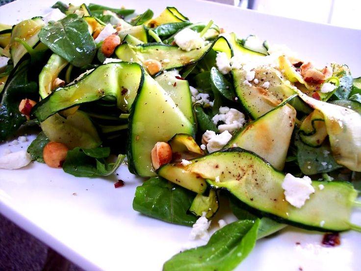 Easy, Healthy Zucchini Ribbon Salad #recipe via @Marie Renello from Proud Italian Cook