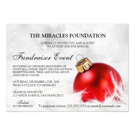 Best Fundraiser And Charity Fundraising Invitations And Flyers